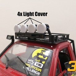 Download free 3D model WPL C14 Hilux Headlight Cover, EdwardChew