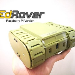 Download free 3D printer files EdRover - Raspberry Pi Home Surveillance Rover with Charging Station, EdwardChew