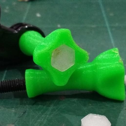 Download free 3D printer model Hexagon Cover for M5 Screw Gopro Knob Remix, EdwardChew