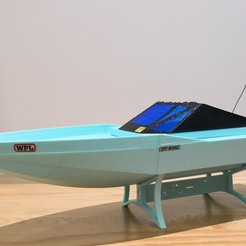 Download free 3D model 3D Printed RC Brushless Speed Boat, EdwardChew