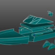 Download free STL file 3D Printed RC Brushless Speed Boat • 3D printer object, EdwardChew