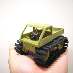 Front_1.jpg Download free STL file Tiny Snowcat FPV - the coolest Tiny Trak • Model to 3D print, EdwardChew