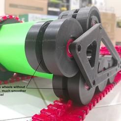 Descargar modelos 3D gratis Rueda de pista del tanque RC manchada sin piñón - Actualización crítica, EdwardChew