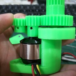 M1.0_pinion_gear_14T_3d_printed_1.jpg Download free STL file Staind RC Tank Option Parts M1.0 Gear Spacer Bearing • Template to 3D print, EdwardChew