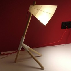 Download 3D print files Kâ Lamp - 3D printed DIY lamp, svnbrs