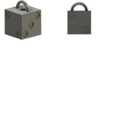 Dé.png Télécharger fichier STL gratuit Porte Clé Dé • Design pour imprimante 3D, Heaven75
