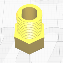 2020-08-10 10_04_56-CE3PRO_Adaptador - Ultimaker Cura.png Download STL file Presta-Schrader adapter with howitzer extractor • Design to 3D print, pcerverasoto