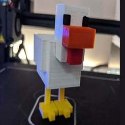 Download free 3D printer files Minecraft chicken - easy assembly, no supports, marcelwo41edynki
