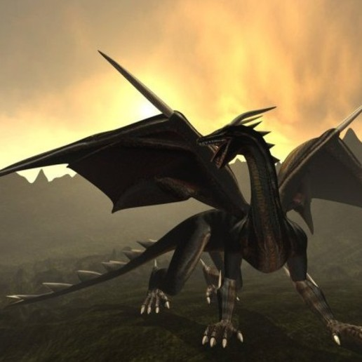 black_dragon_rigged_and_game_ready-8.jpg Télécharger fichier STL gratuit Dragon noir • Modèle à imprimer en 3D, arnettha