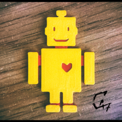Descargar archivo 3D gratis Robot Love - Imán / Llavero, c47