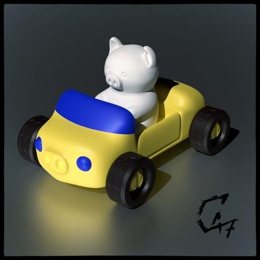 Télécharger modèle 3D gratuit Voiture à cochon, c47