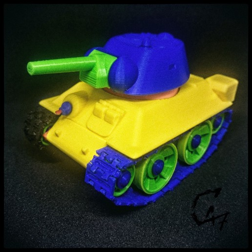 mini t-34 photo_.jpg Télécharger fichier STL Mini T-34 • Design pour imprimante 3D, c47