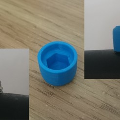 Download free 3D printer designs M10 nut cap, c47