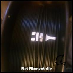 Flat Filament Clip_new_1.jpg Télécharger fichier STL gratuit Pince à filament plat • Modèle à imprimer en 3D, c47
