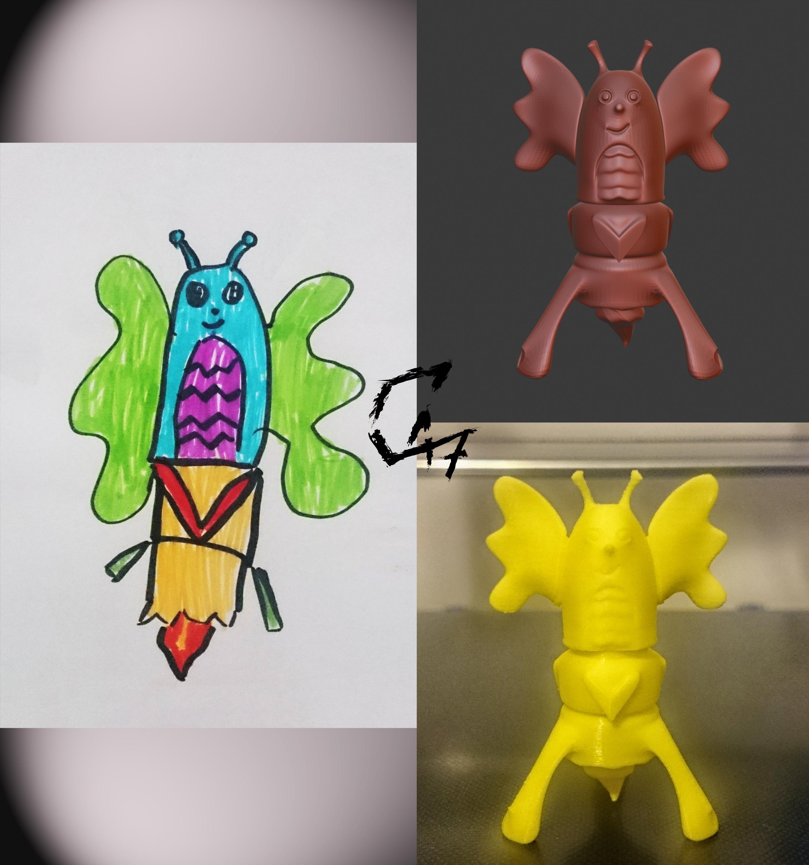 figurka_julka.jpg Télécharger fichier STL gratuit Figurine du monde enfant 2 • Modèle à imprimer en 3D, c47