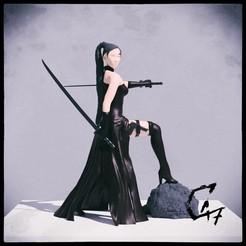 Bloodwars-Absorber-Female_render.jpg Download free STL file Bloodwars - Absorber figurine • 3D print object, c47