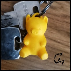 Download free 3D printer designs Piggy Keychain / Earring, c47