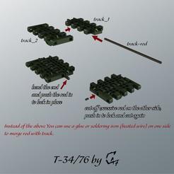 T-34-76_tracks.jpg Télécharger fichier STL gratuit T-34/76 pistes pour l'impression d'essai / ou le bracelet • Design pour impression 3D, c47