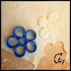 Flower-Cookie-Cutter.jpg Download free STL file Flower Cookie cutter • 3D printing template, c47