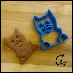 Piggy-n-friends_cookie-cutter_cat.jpg Télécharger fichier STL gratuit Coupe-biscuits pour chats • Plan pour impression 3D, c47