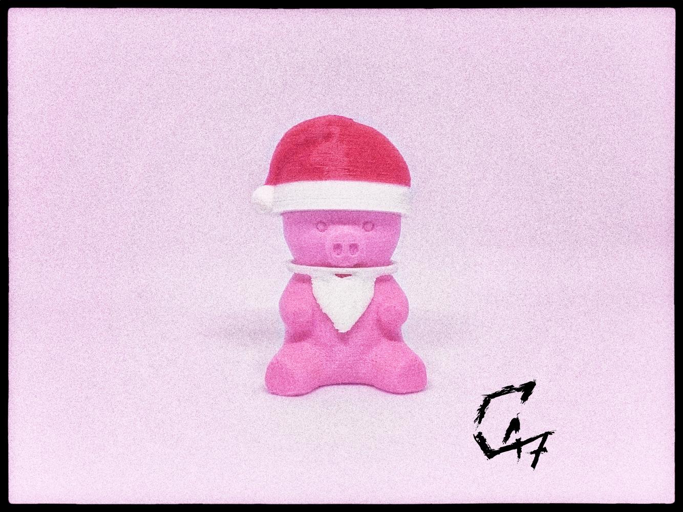 Piggy-Santa_TG.jpg Télécharger fichier STL gratuit Piggy - Compléments de Noël • Plan à imprimer en 3D, c47