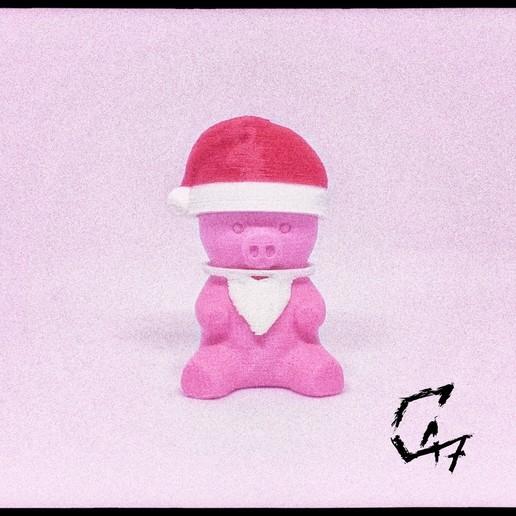 Download free 3D printer model Piggy - Christmas addons, c47