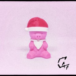 Piggy-Santa_TG.jpg Download free STL file Piggy - Christmas addons • 3D printable design, c47