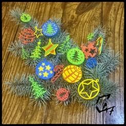 Ornaments_2.jpg Télécharger fichier STL Décorations de l'arbre de Noël / Boucles d'oreilles • Modèle pour impression 3D, c47