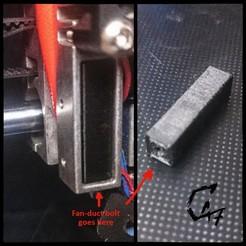 JG Aurora A1 fan-duct bolt nut.jpg Download free STL file JG Aurora A1 fan-duct bolt nut fix • 3D printable object, c47