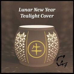 Lunar New Year Cover Ox-hanzi original_.jpg Télécharger fichier STL gratuit Couverture de la bougie du Nouvel An lunaire • Design imprimable en 3D, c47