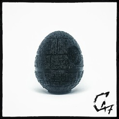 Download free STL files EggStar (Easter Egg Death Star), c47