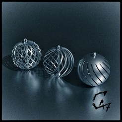 Download free 3D printing files Christmas Balls, c47