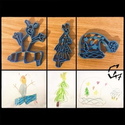 Download free 3D printer designs Kids cookie cutters, c47