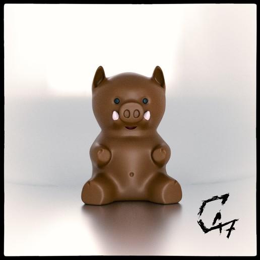 Télécharger modèle 3D gratuit Miniature du Porcinet, c47