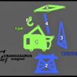 Télécharger fichier imprimante 3D gratuit Aimant de réfrigérateur Cranosaurus pour contenir les billets, c47