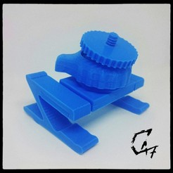 Download free 3D printer designs Bed camera mount with clips - fully printed, c47