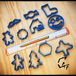 Download free 3D printing templates Christmas cookie cutters, c47