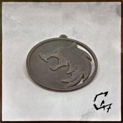 Descargar modelo 3D gratis Medallón de la serie Witcher - Wolf, c47