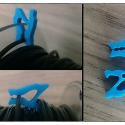 Descargar diseños 3D gratis Use as you want' Filament Clip, c47