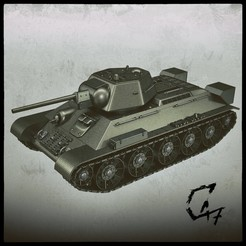 Download STL file T-34/76 for assembling, with moving tracks • 3D printable design, c47