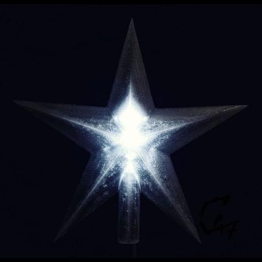 Download free 3D printing templates Christmas Tree Star, c47