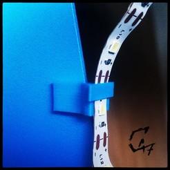 LED-frame-clip_2.jpg Télécharger fichier STL gratuit Bande LED Clip de cadre • Objet à imprimer en 3D, c47