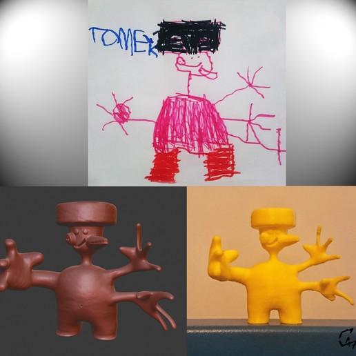 Download free 3D model Kid world figurine 1, c47