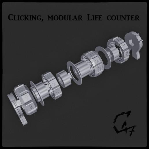 Counter3.jpg Download STL file Clicking modular life counter • 3D print model, c47