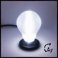 Light bulb.jpg Download free STL file Light bulb • 3D printing object, c47