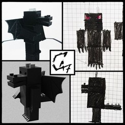Download free 3D printing files Minecraft Dragon-Man - Kids world figurine, c47