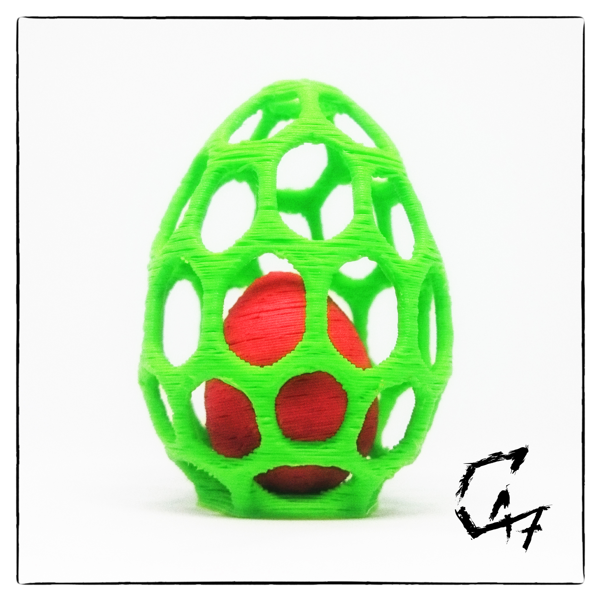 DSC_0326.JPG Download free STL file Egg in Egg cage - two colors with single extruder • 3D printer template, c47