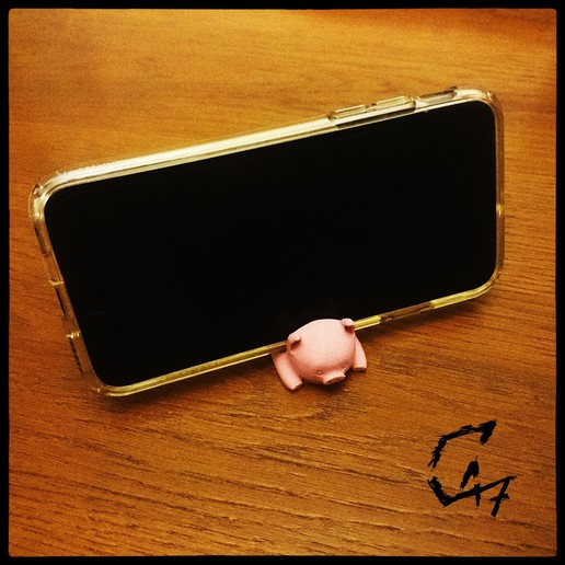 Piggy-Phone-Stand_1.jpg Download free STL file Piggy Phone Stand • 3D printable design, c47