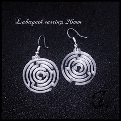 Labirynth earrings_26.jpg Download free STL file Labirynth earring / necklace 26mm - FREE • 3D printable model, c47