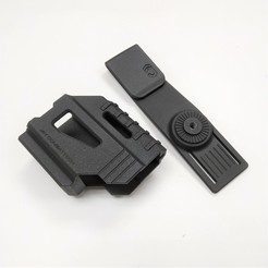 Download 3D printer templates Holster Glock 17,19,23,18, JAYCOMBATTECH